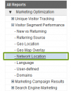 Locate the Network Location menu section