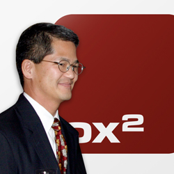 Wandering Dave Rhee with OX2 logo